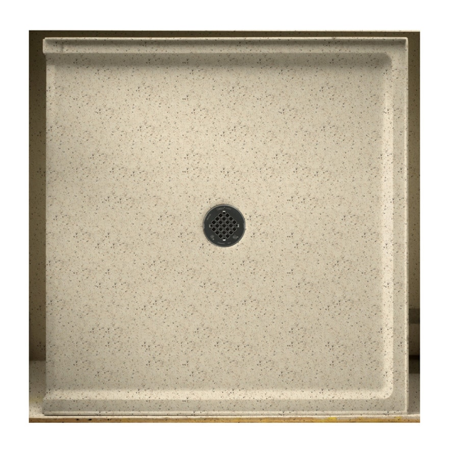 Swanstone Tahiti Desert Solid Surface Shower Base (Common: 37-in W x 38-in L; Actual: 37-in W x 38-in L)