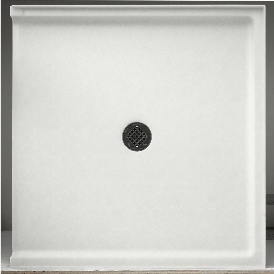 Swanstone Tahiti Ivory Solid Surface Shower Base (Common: 37-in W x 38-in L; Actual: 37-in W x 38-in L)