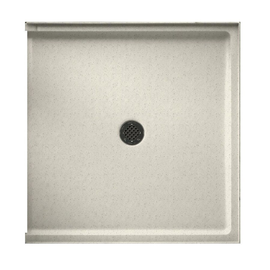 Swanstone Tahiti Matrix Solid Surface Shower Base (Common: 37-in W x 38-in L; Actual: 37-in W x 38-in L)