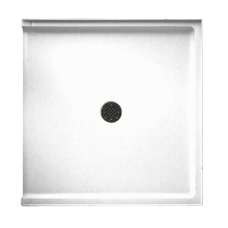 Swanstone White Solid Surface Shower Base (Common: 37-in W x 38-in L; Actual: 37-in W x 38-in L)
