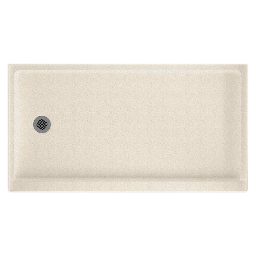 Swanstone Almond Galaxy Solid Surface Shower Base (Common: 32-in W x 60-in L; Actual: 32-in W x 60-in L)