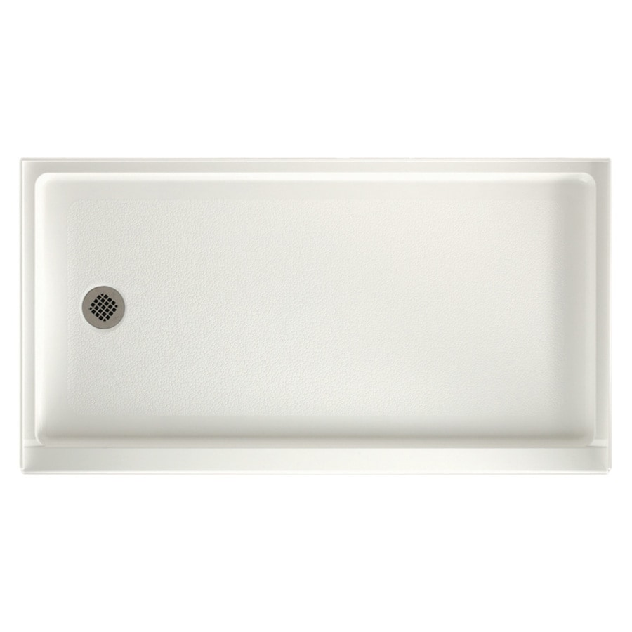 Swanstone Bisque Solid Surface Shower Base (Common: 32-in W x 60-in L; Actual: 32-in W x 60-in L)