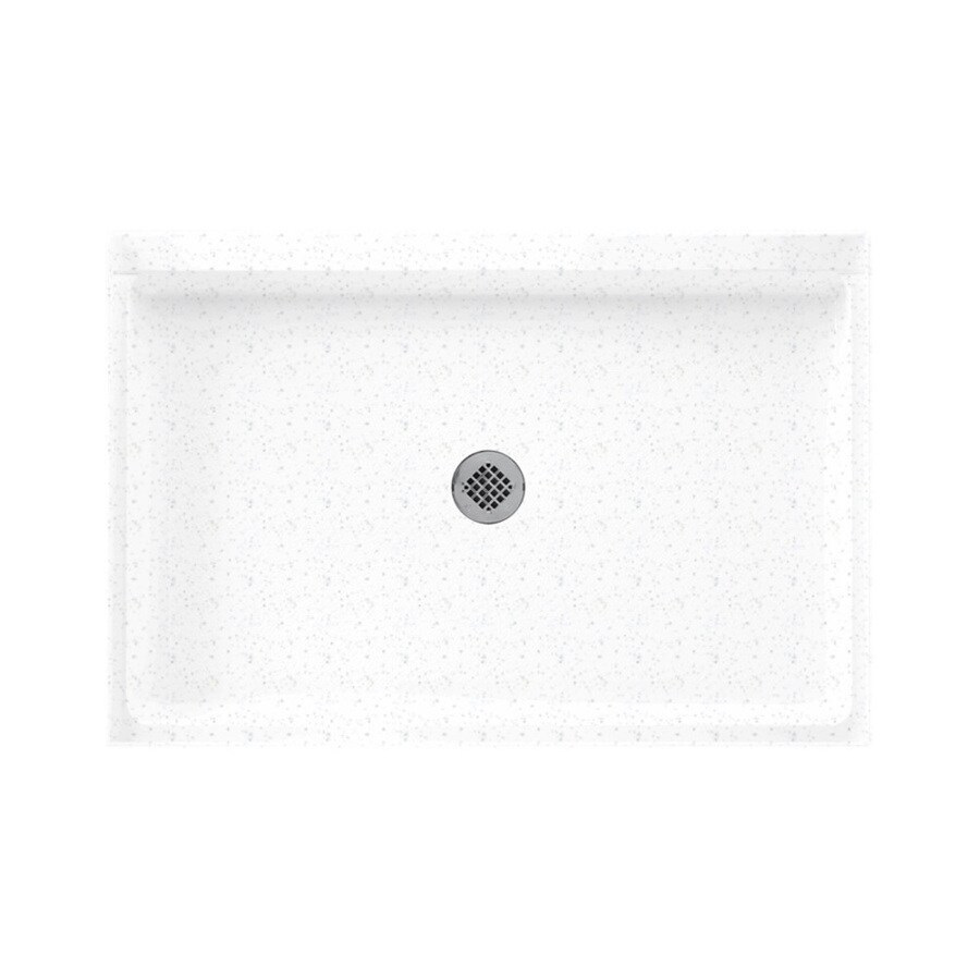 Swanstone Arctic Granite Solid Surface Shower Base (Common: 32-in W x 48-in L; Actual: 32-in W x 48-in L)