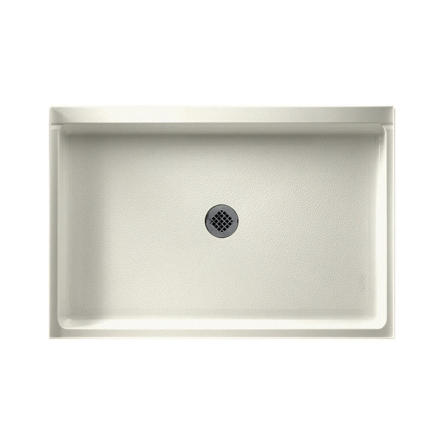 Swanstone Bisque Solid Surface Shower Base (Common: 32-in W x 48-in L; Actual: 32-in W x 48-in L)