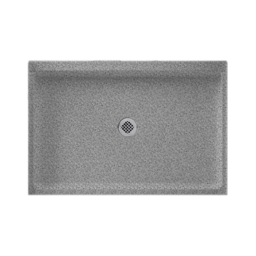 Swanstone Gray Granite Solid Surface Shower Base (Common: 32 In W X 48
