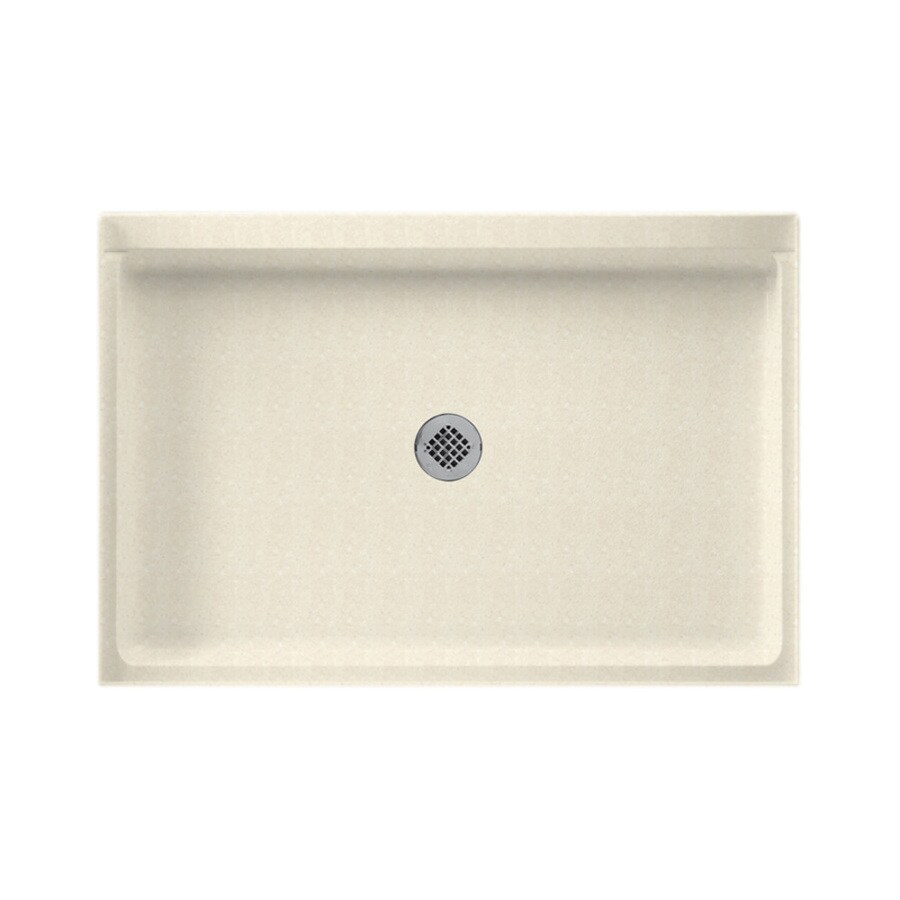 Swanstone Pebble Solid Surface Shower Base (Common: 32-in W x 48-in L; Actual: 32-in W x 48-in L)