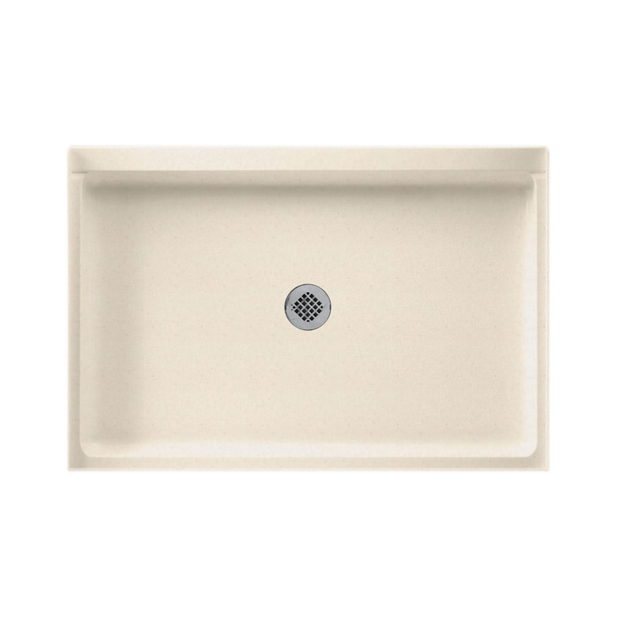 Swanstone Tahiti Sand Solid Surface Shower Base (Common: 32-in W x 48-in L; Actual: 32-in W x 48-in L)