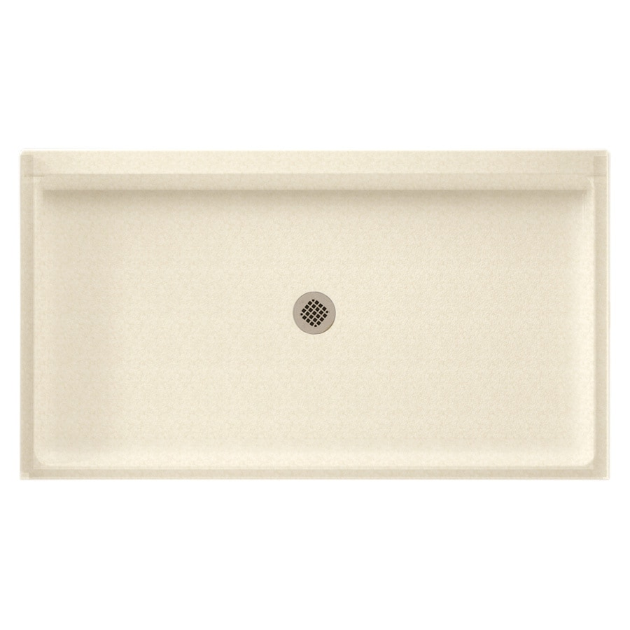 Swanstone Cornflower Solid Surface Shower Base (Common: 32-in W x 60-in L; Actual: 32-in W x 60-in L)