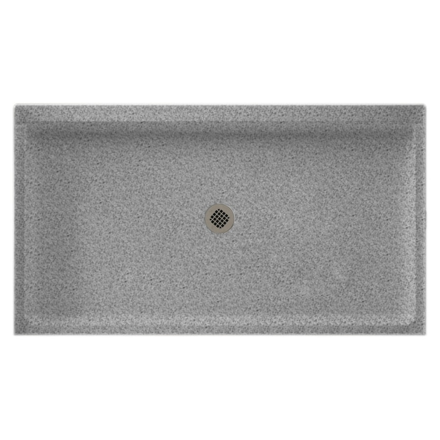 Swanstone Gray Granite Solid Surface Shower Base (Common: 32-in W x 60-in L; Actual: 32-in W x 60-in L)