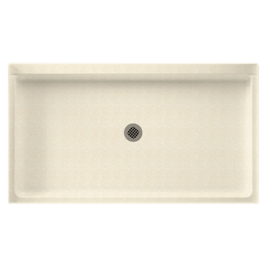 Swanstone Pebble Solid Surface Shower Base (Common: 32-in W x 60-in L; Actual: 32-in W x 60-in L)