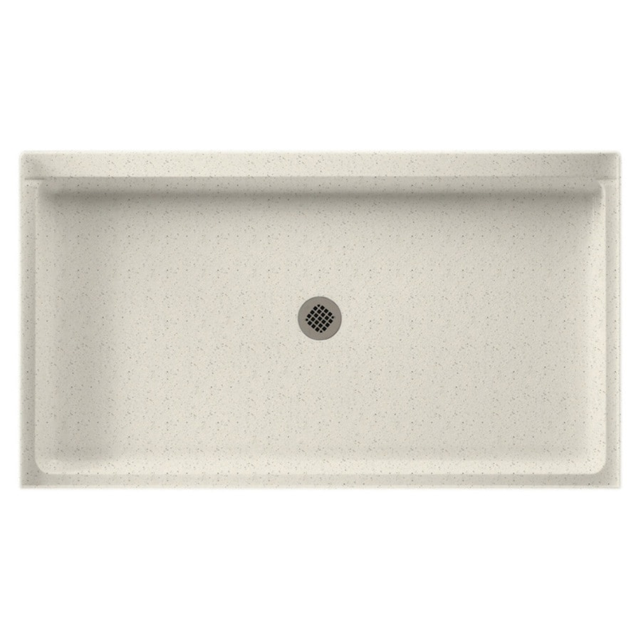 Swanstone Tahiti Matrix Solid Surface Shower Base (Common: 32-in W x 60-in L; Actual: 32-in W x 60-in L)