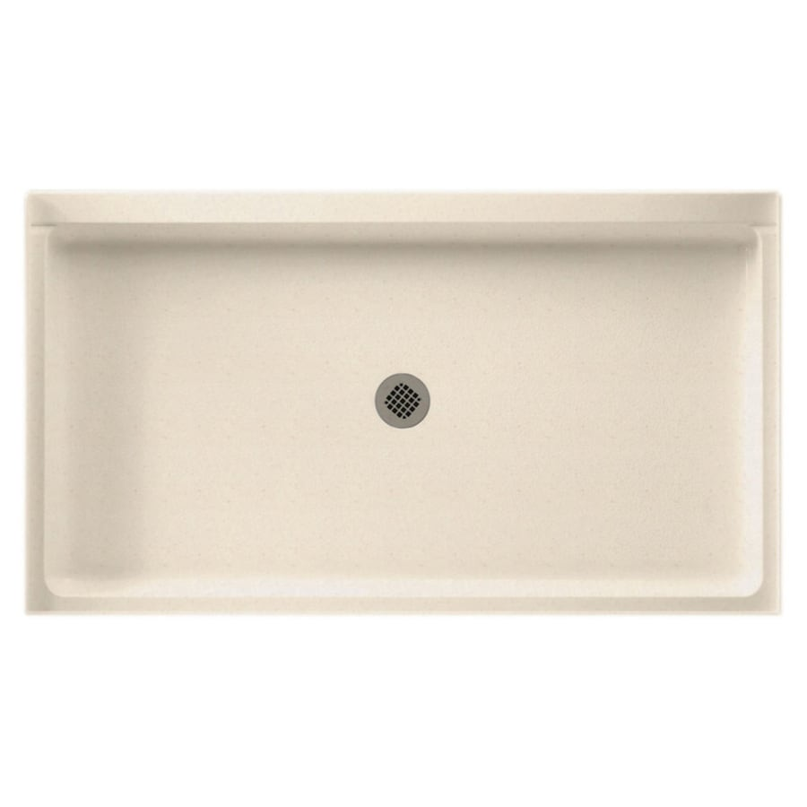 Swanstone Tahiti Sand Solid Surface Shower Base (Common: 32-in W x 60-in L; Actual: 32-in W x 60-in L)
