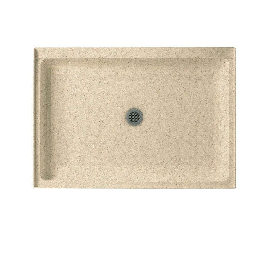 Swanstone Bermuda Sand Solid Surface Shower Base (Common: 34-in W x 42-in L; Actual: 34-in W x 42-in L)