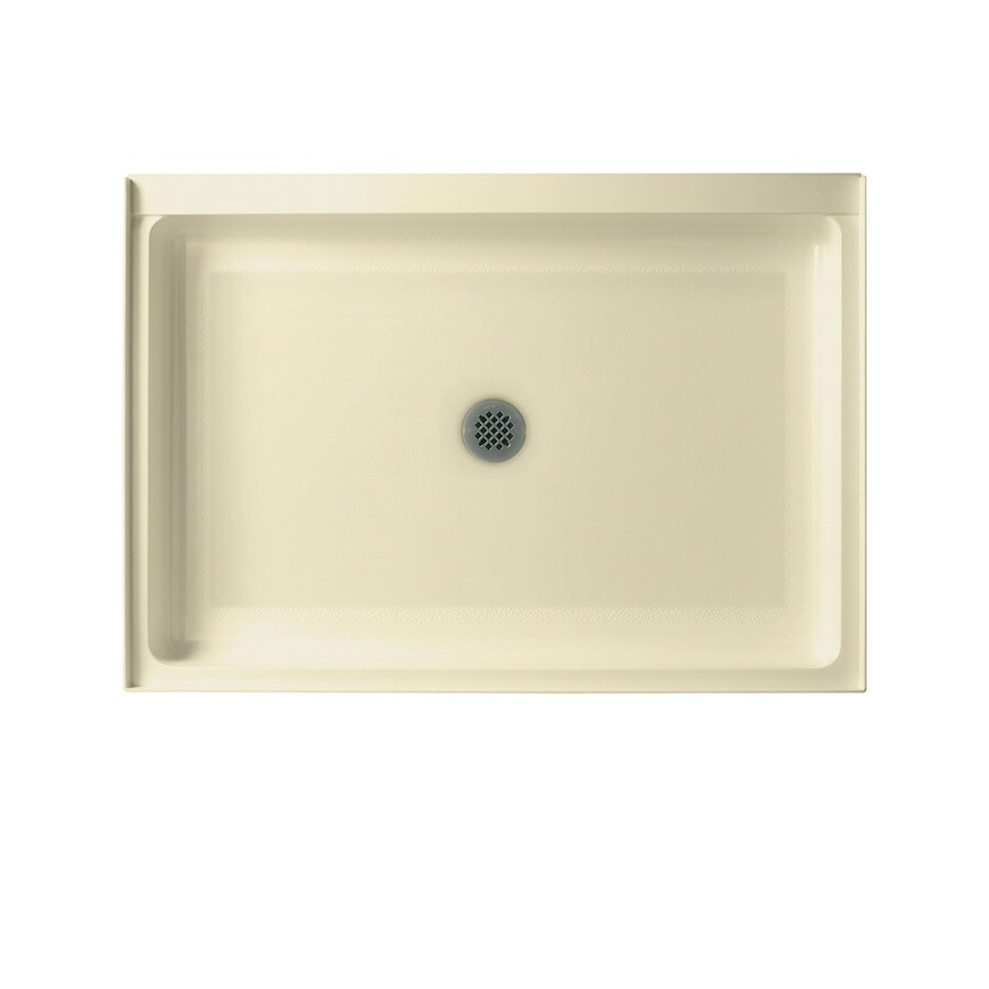 Swanstone Bone Solid Surface Shower Base (Common: 34-in W x 42-in L; Actual: 34-in W x 42-in L)
