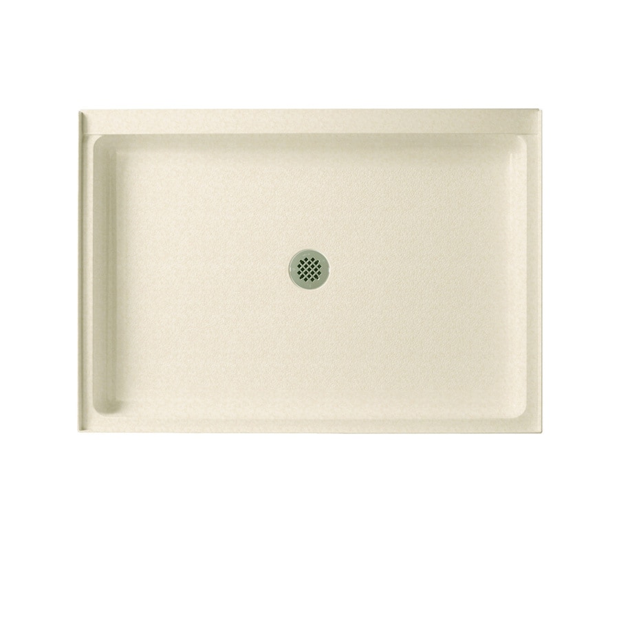 Swanstone Cornflower Solid Surface Shower Base (Common: 34-in W x 42-in L; Actual: 34-in W x 42-in L)