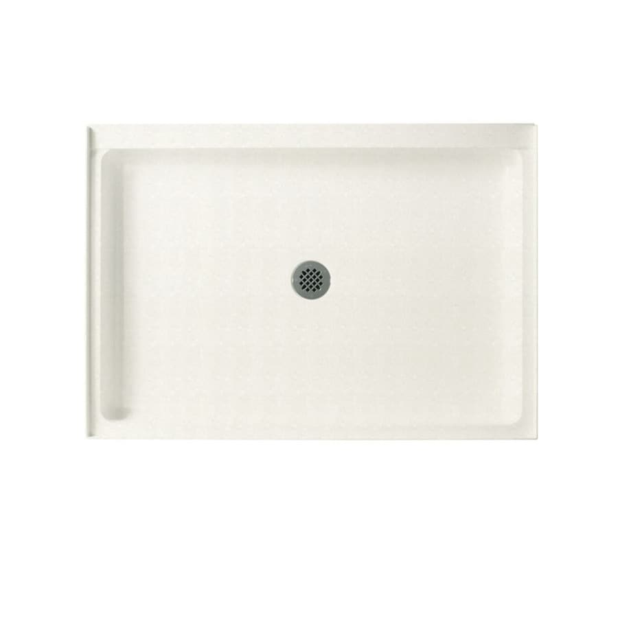 Swanstone Tahiti Ivory Solid Surface Shower Base (Common: 34-in W x 42-in L; Actual: 34-in W x 42-in L)
