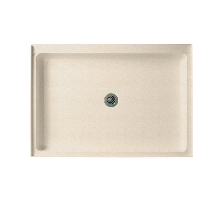Swanstone Tahiti Sand Solid Surface Shower Base (Common: 34-in W x 42-in L; Actual: 34-in W x 42-in L)