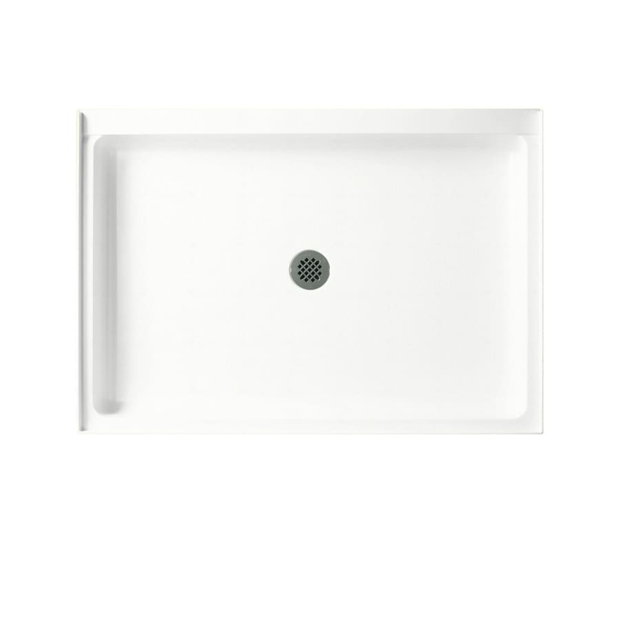 Swanstone Tahiti White Solid Surface Shower Base (Common: 34-in W x 42-in L; Actual: 34-in W x 42-in L)