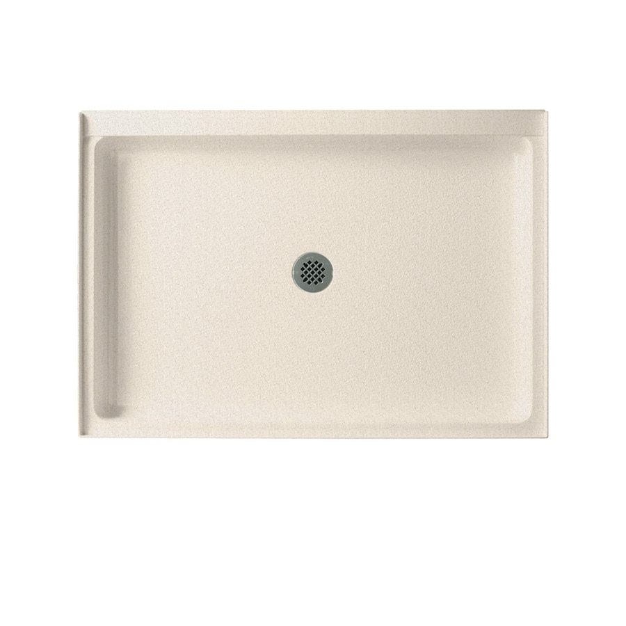 Swanstone Almond Galaxy Solid Surface Shower Base (Common: 34-in W x 48-in L; Actual: 34-in W x 48-in L)