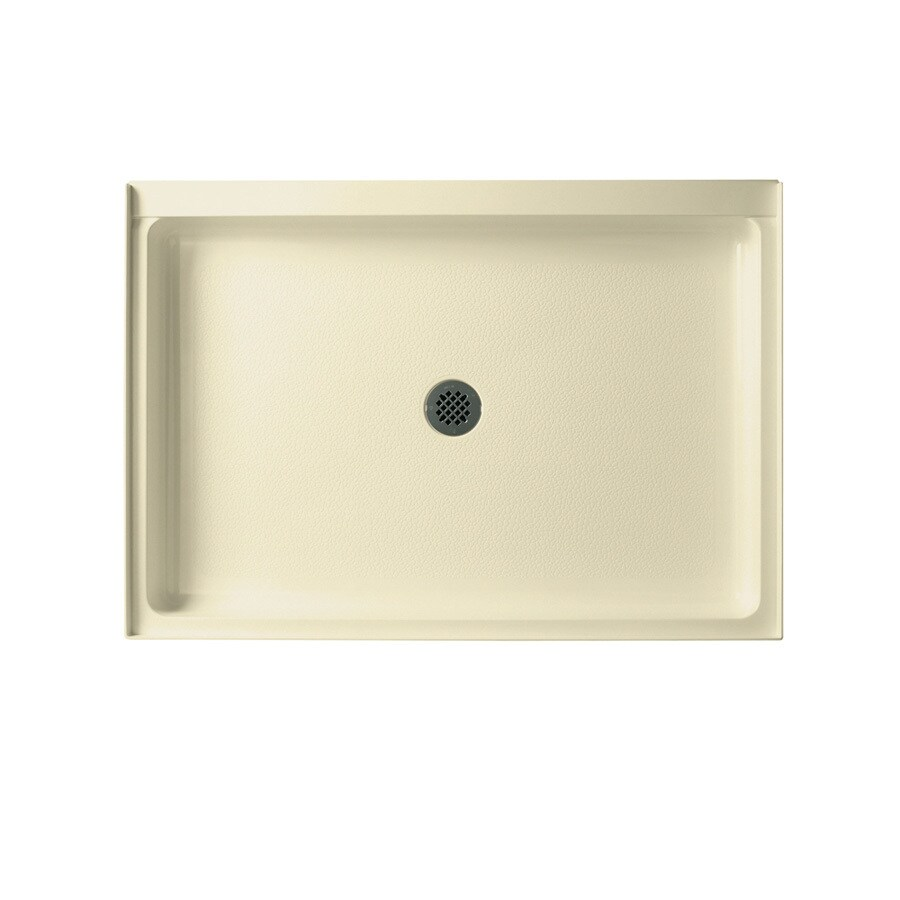 Swanstone Bone Solid Surface Shower Base (Common: 34-in W x 48-in L; Actual: 34-in W x 48-in L)