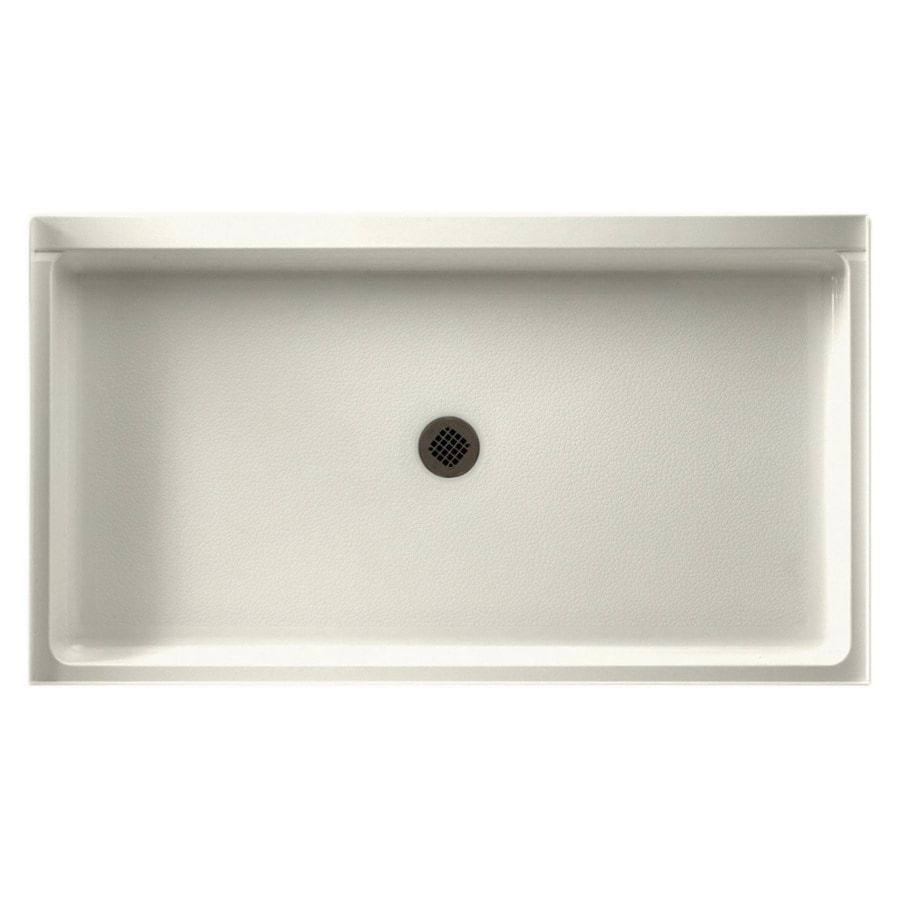 Swanstone Bisque Solid Surface Shower Base (Common: 34-in W x 60-in L; Actual: 34-in W x 60-in L)