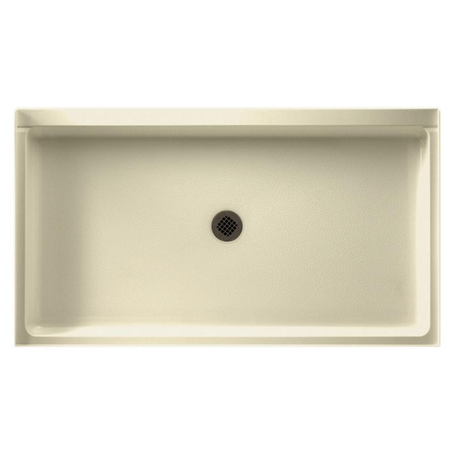 Swanstone Bone Solid Surface Shower Base (Common: 34-in W x 60-in L; Actual: 34-in W x 60-in L) with Center Drain