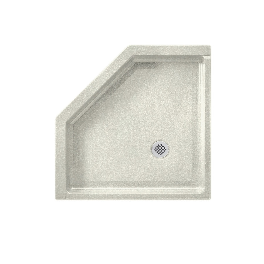 Swanstone Bisque Solid Surface Shower Base (Common: 38-in W x 38-in L; Actual: 38-in W x 38-in L)