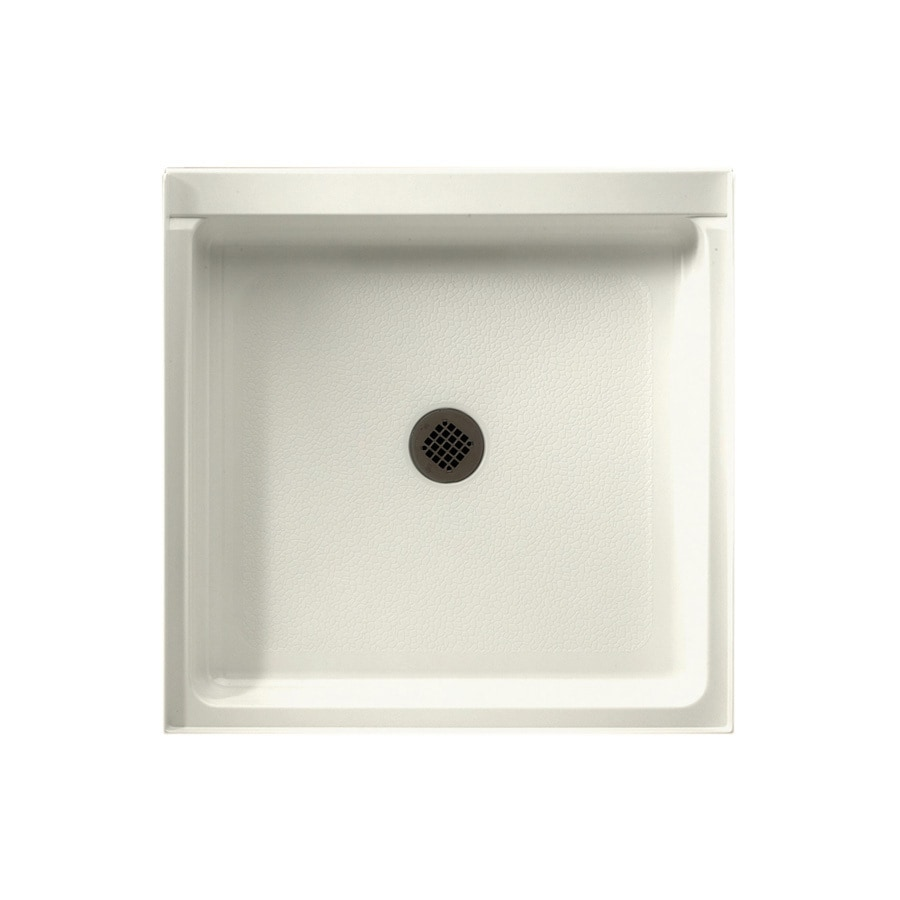 Swanstone Bisque Solid Surface Shower Base (Common: 42-in W x 36-in L; Actual: 36-in W x 42-in L)