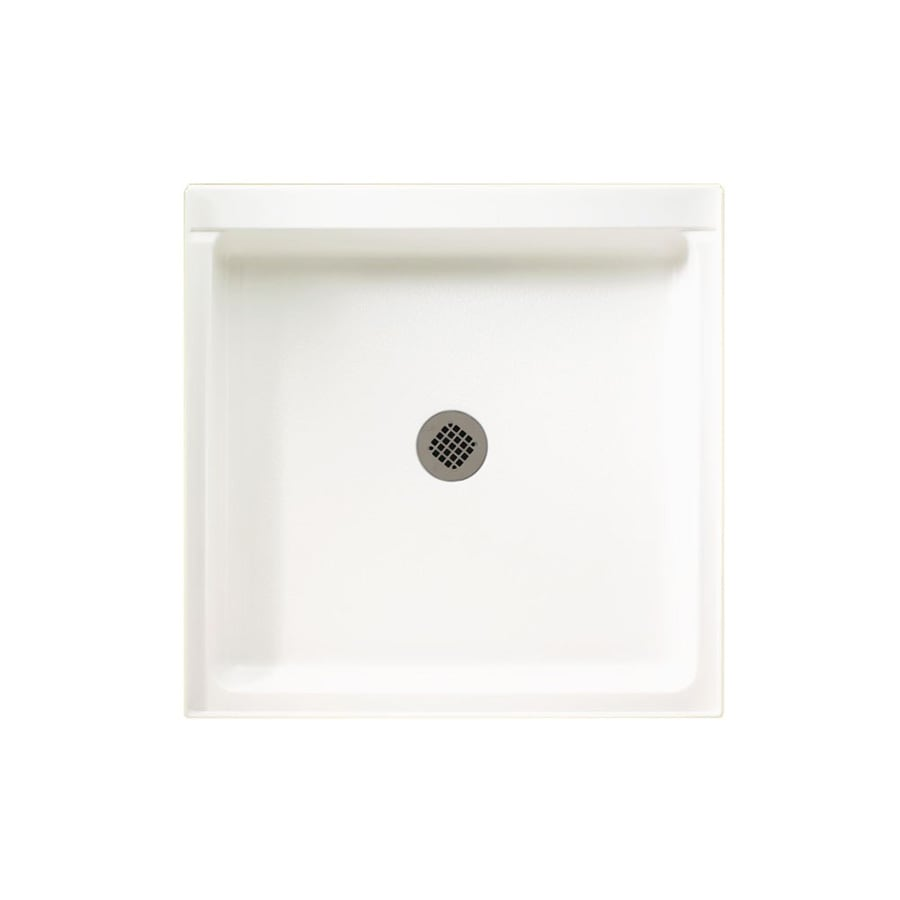Swanstone White Solid Surface Shower Base (Common: 42-in W x 42-in L; Actual: 42-in W x 42-in L)
