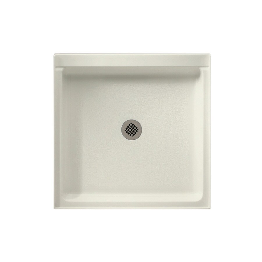 Swanstone Bisque Solid Surface Shower Base (Common: 42-in W x 42-in L; Actual: 42-in W x 42-in L)