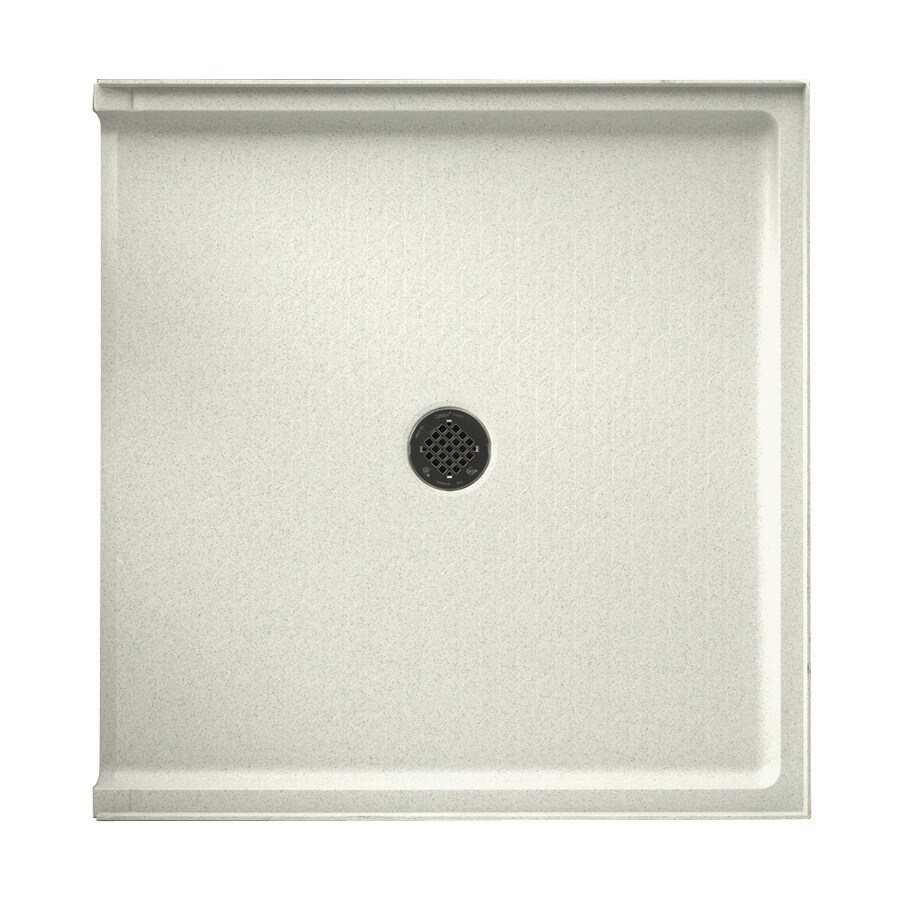 Swanstone Bisque Veritek Shower Base (Common: 38-in W x 37-in L; Actual: 37-in W x 38-in L)