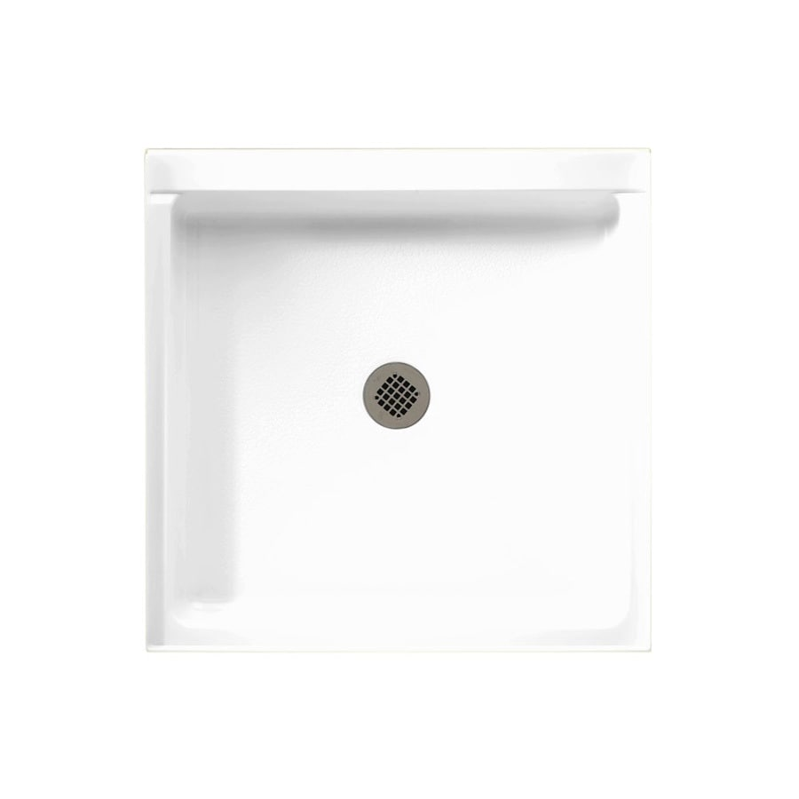 Swanstone White Fiberglass and Plastic Composite Shower Base (Common: 32-in W x 32-in L; Actual: 32-in W x 32-in L)
