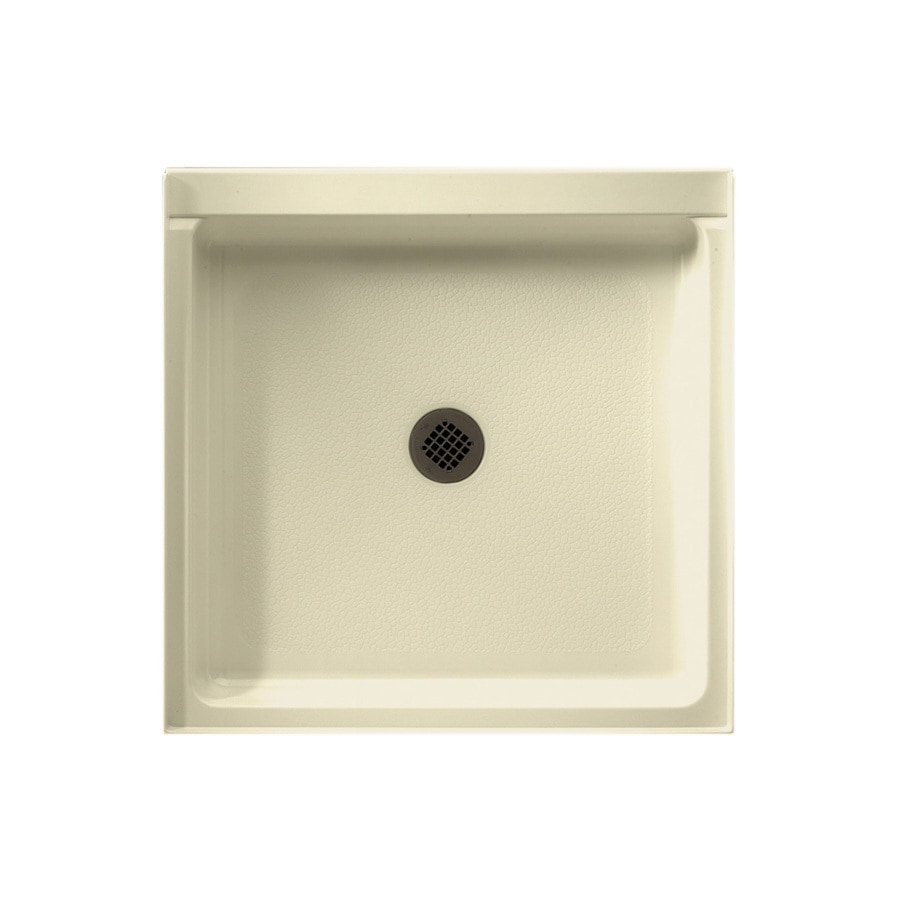 Swanstone Bone Fiberglass and Plastic Composite Shower Base (Common: 32-in W x 32-in L; Actual: 32-in W x 32-in L)