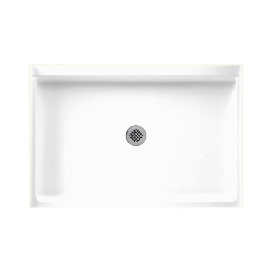 Swanstone White Veritek Shower Base (Common: 48-in W x 32-in L; Actual: 32-in W x 48-in L)