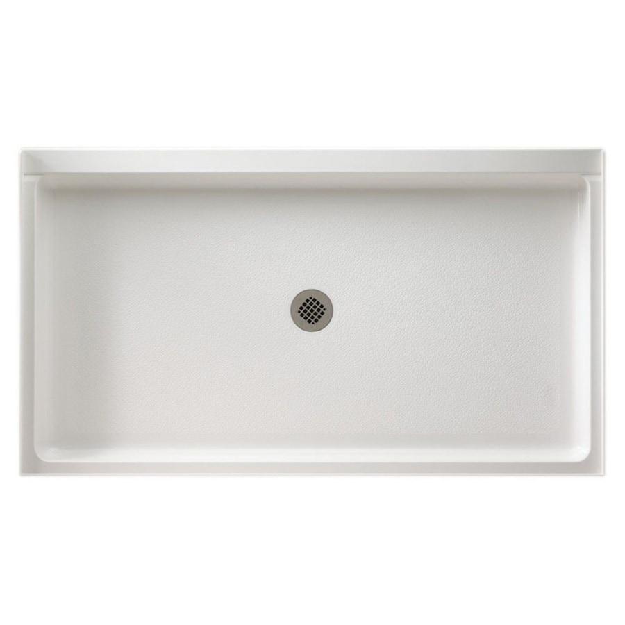Swanstone White Fiberglass and Plastic Composite Shower Base (Common: 60-in W x 32-in L; Actual: 32-in W x 60-in L)