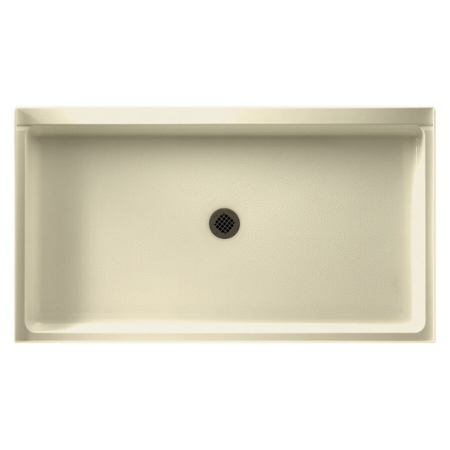 Swanstone Bone Veritek Shower Base (Common: 60-in W x 32-in L; Actual: 32-in W x 60-in L)