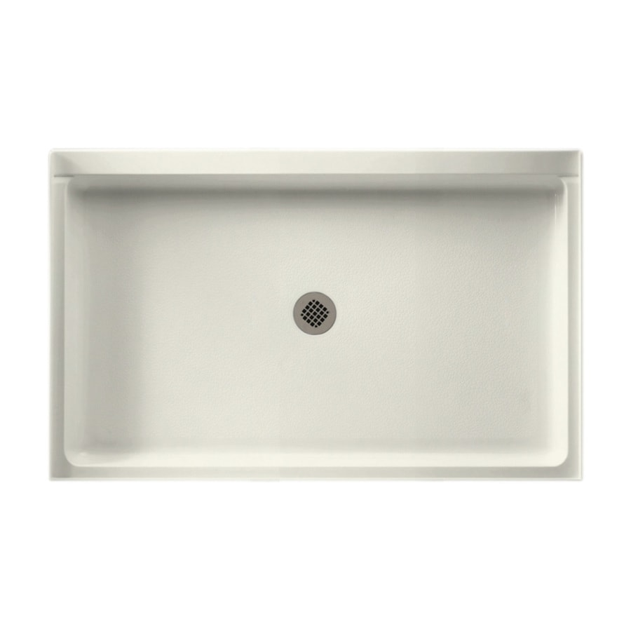 Swanstone Bisque Fiberglass and Plastic Composite Shower Base (Common: 54-in W x 34-in L; Actual: 34-in W x 54-in L)