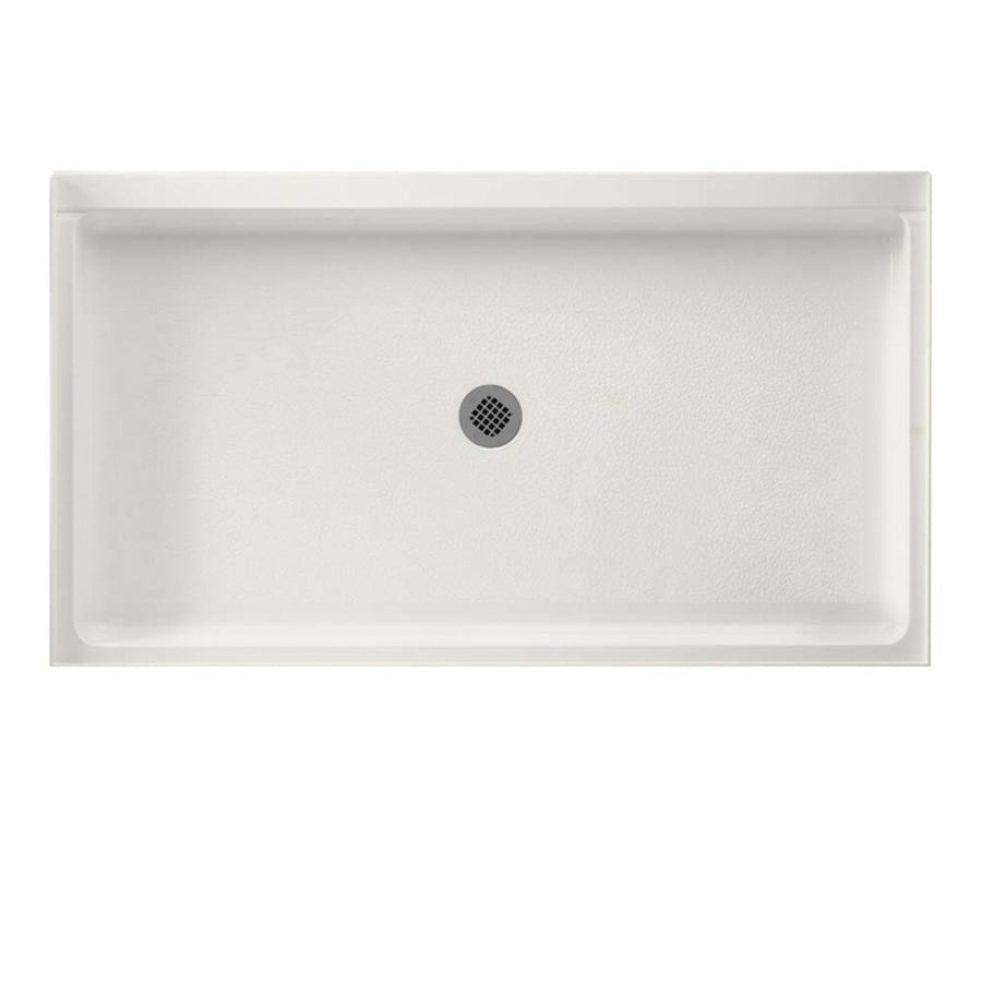 Swanstone Bisque Fiberglass and Plastic Composite Shower Base (Common: 60-in W x 34-in L; Actual: 34-in W x 60-in L)