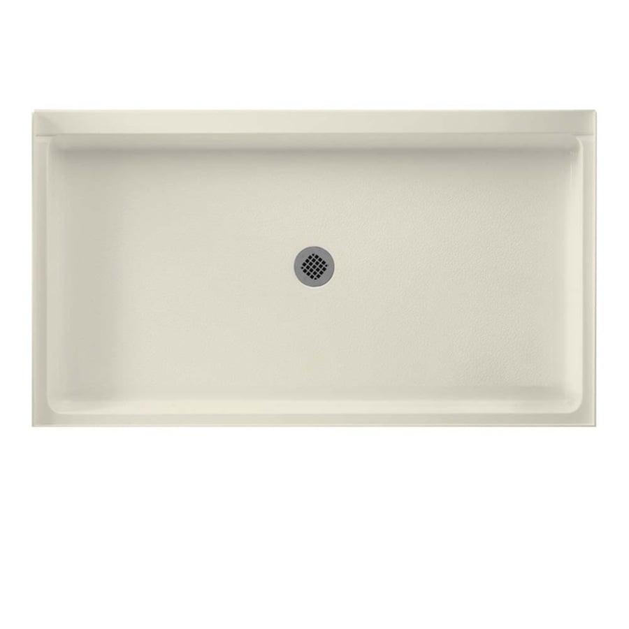 Swanstone Bone Veritek Shower Base (Common: 60-in W x 34-in L; Actual: 34-in W x 60-in L)