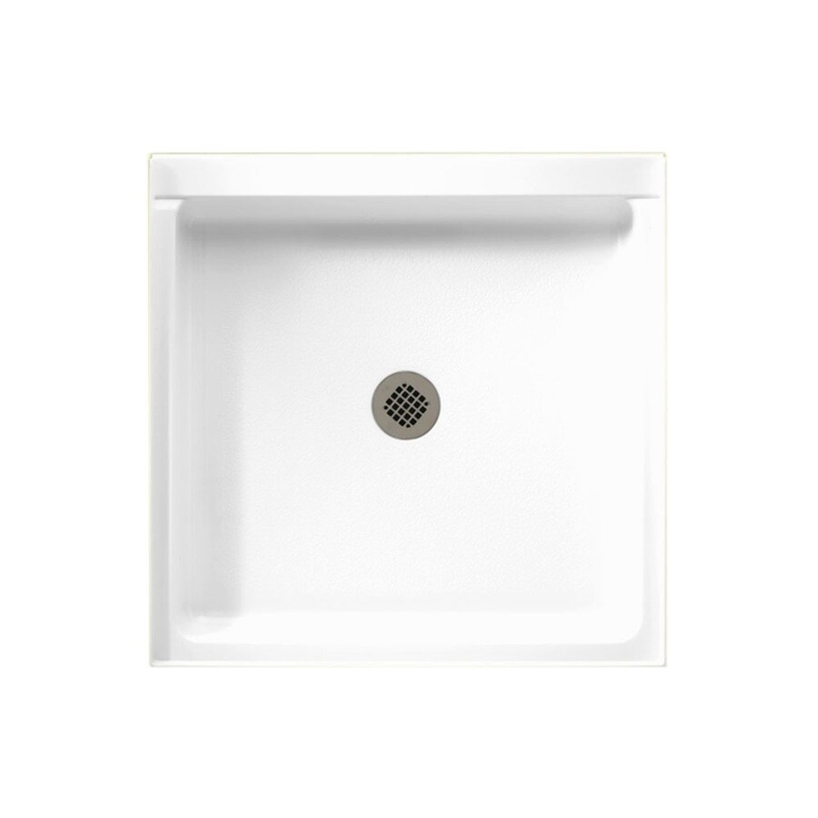 Swanstone White Veritek Shower Base (Common: 36-in W x 36-in L; Actual: 36-in W x 36-in L)