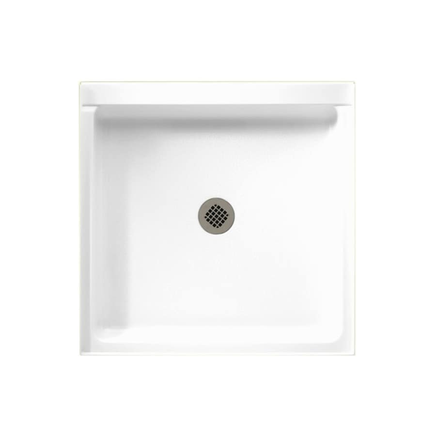 Swanstone White Veritek Shower Base (Common: 36-in W x 42-in L; Actual: 36-in W x 42-in L)