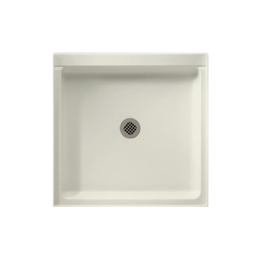 Swanstone Bisque Fiberglass and Plastic Composite Shower Base (Common: 42-in W x 42-in L; Actual: 42-in W x 42-in L)