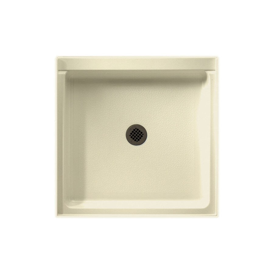 Swanstone Bone Fiberglass and Plastic Composite Shower Base (Common: 42-in W x 42-in L; Actual: 42-in W x 42-in L)