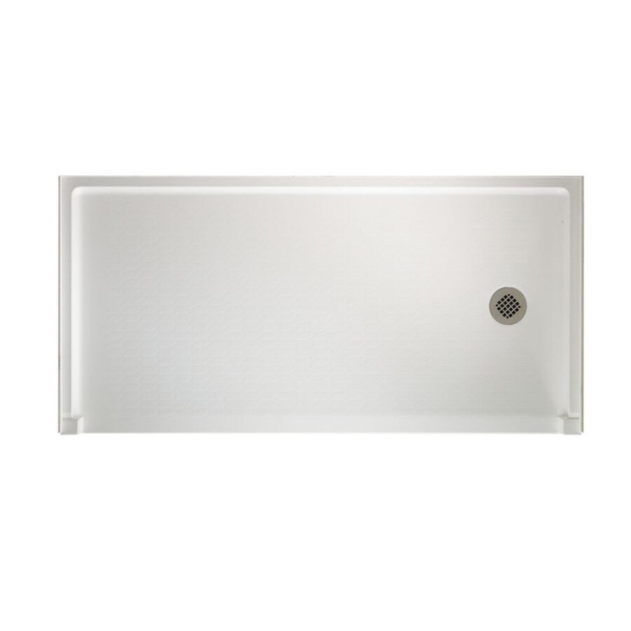 Swanstone White Veritek Shower Base (Common: 60-in W x 30-in L; Actual: 30-in W x 60-in L)