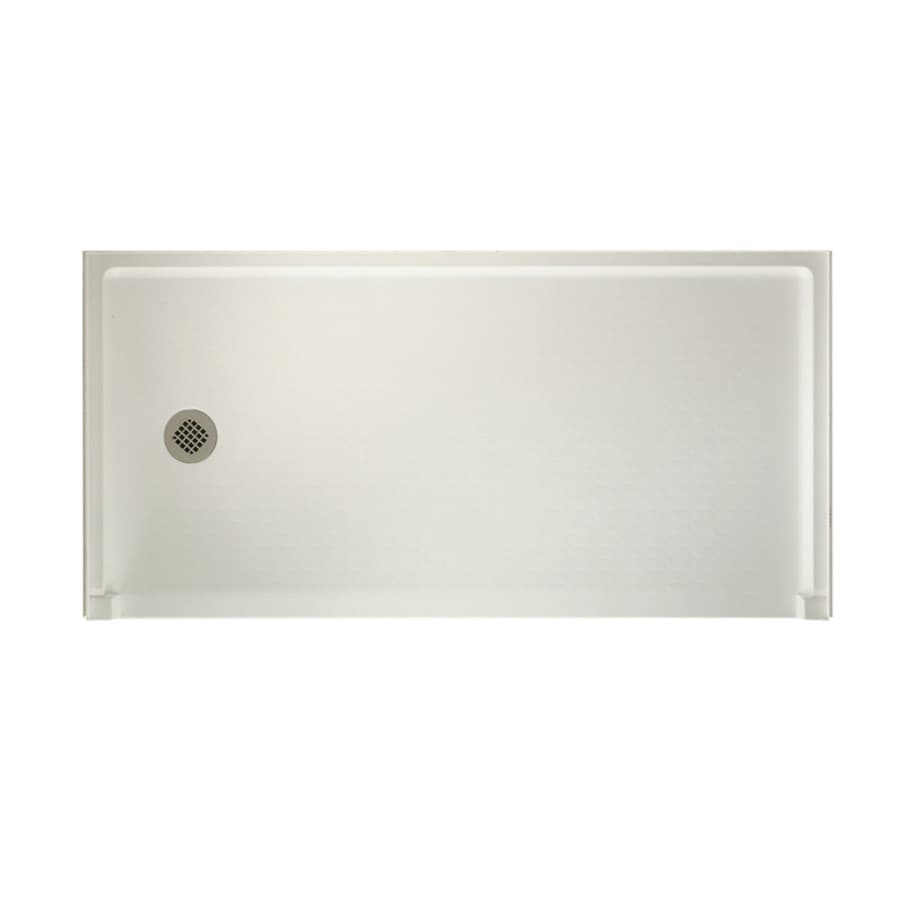 Swanstone Veritek Bisque Fiberglass and Plastic Composite Shower Base (Common: 60-in W x 30-in L; Actual: 30-in W x 60-in L)
