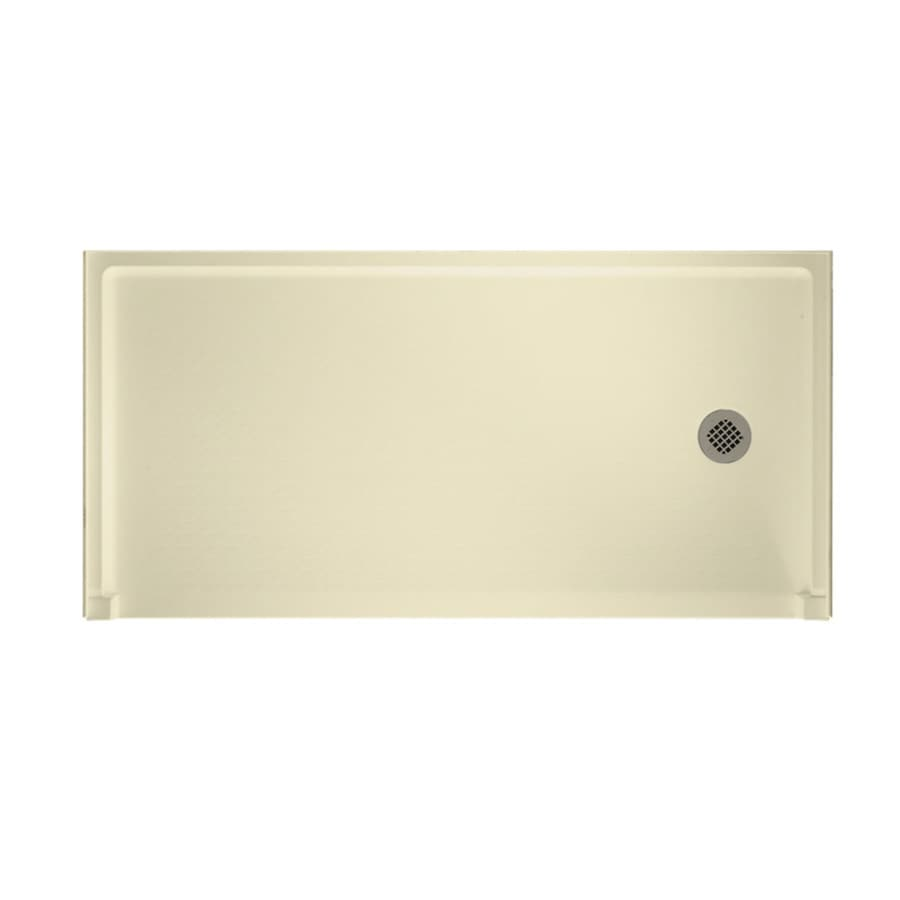 Swanstone Bone Veritek Shower Base (Common: 60-in W x 30-in L; Actual: 30-in W x 60-in L) with Right Drain