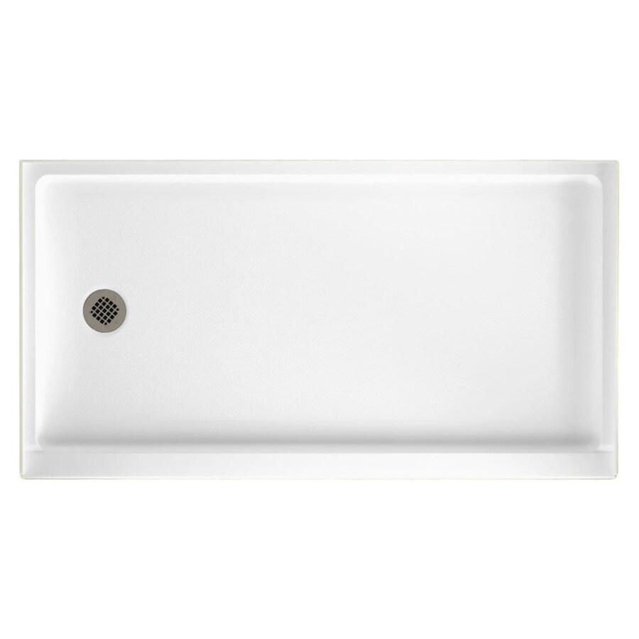 Shop Swanstone White Veritek Shower Base Common 32 In W