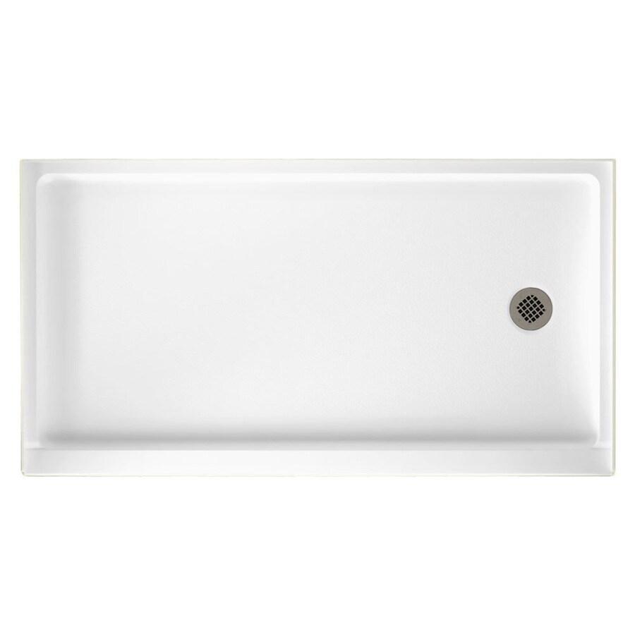 Swanstone White Veritek Shower Base (Common: 32-in W x 60-in L; Actual: 32-in W x 60-in L)