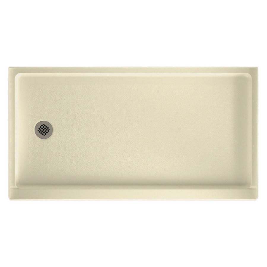 Swanstone Bone Veritek Shower Base (Common: 32-in W x 60-in L; Actual: 32-in W x 60-in L)