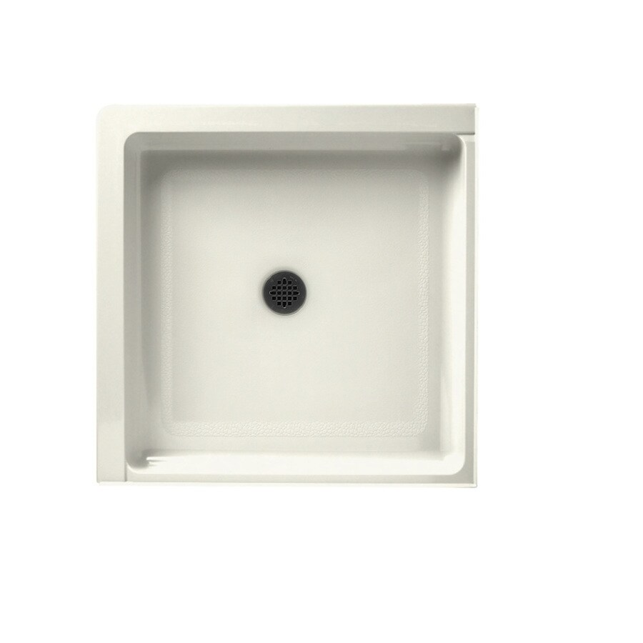 Swanstone Bisque Veritek Shower Base (Common: 36-in W x 36-in L; Actual: 36-in W x 36-in L)